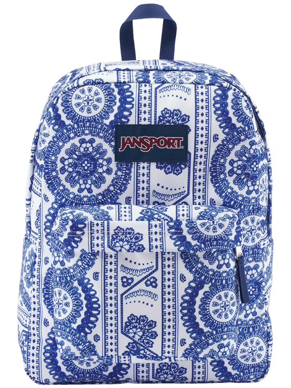 Mochila JanSport Superbreak White Swedish Lace 25L
