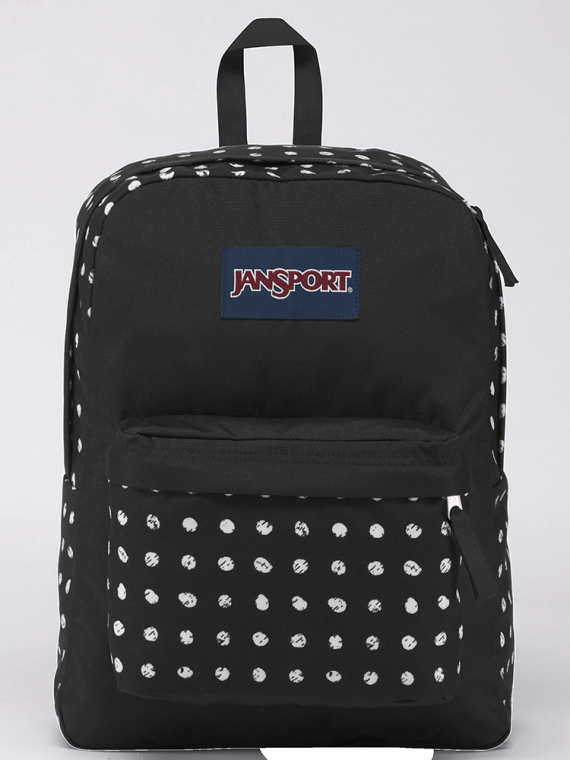 Mochila JanSport Superbreak Black Sketch Dot 25L