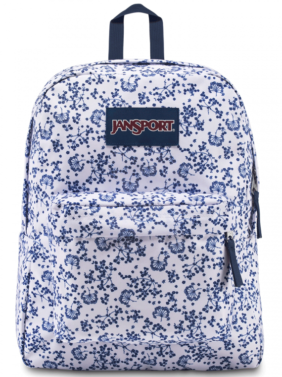 Mochila JanSport Superbreak White Field Floral 25L