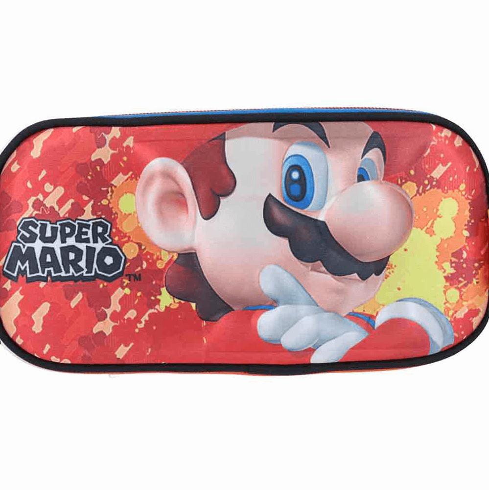 Estuche Mario Bros Rojo