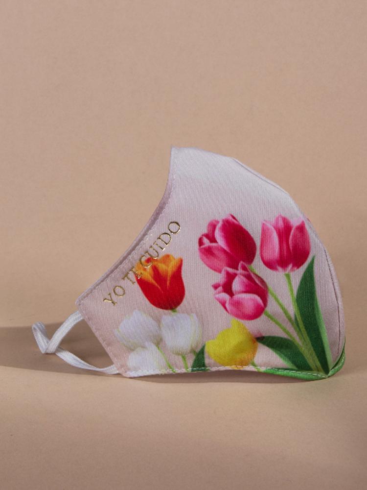 Mascarilla-Reutilizable-Perfil-Tulipanes-Blanco