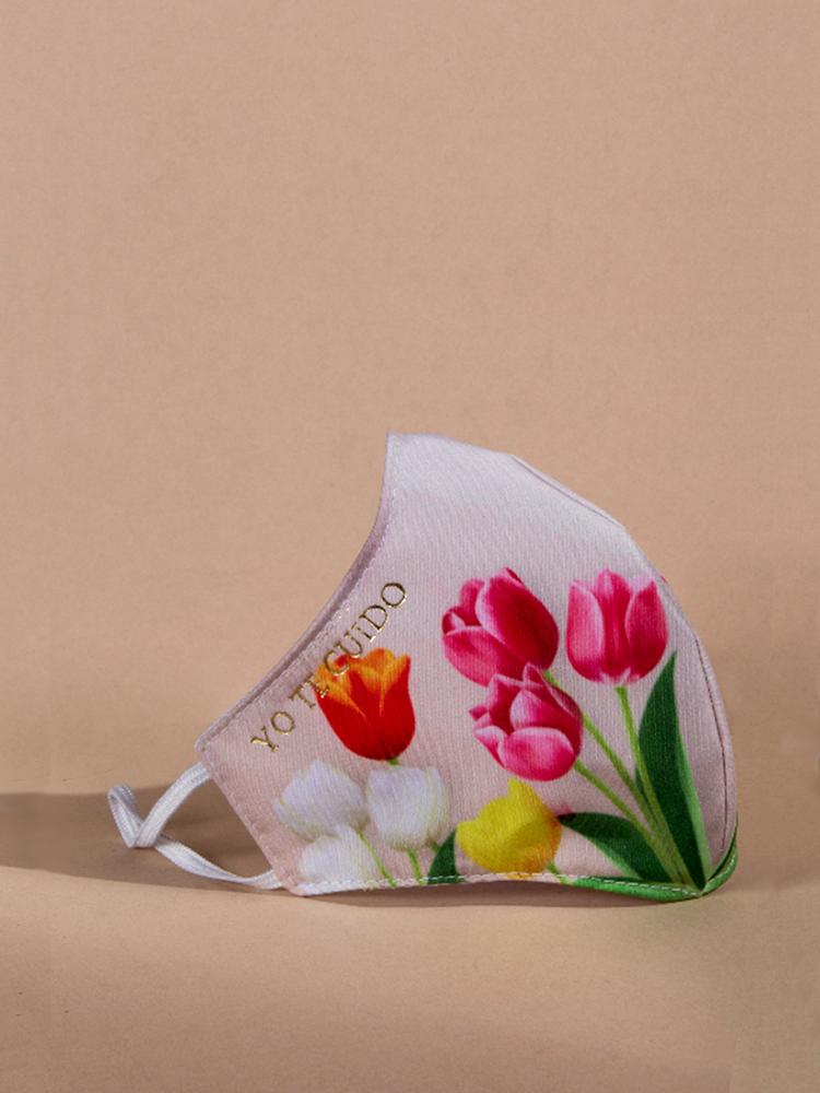 Mascarilla-Reutilizable-Niños-Perfil-Tulipanes